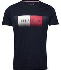th cool hilfiger fade tee t-shirts short-sleeved blå tommy hilfiger
