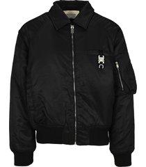 1017 alyx 9sm alyx black buckle-detail bomber jacket