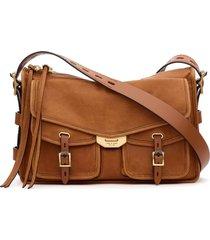 rag & bone field leather messenger bag - brown