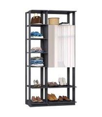 closet modulado be mobiliário clothes com espelho 2 portas