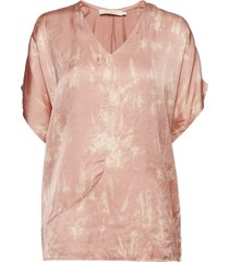 wave asymmetric top blouses short-sleeved rosa rabens sal r