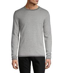 printed wool pullover top