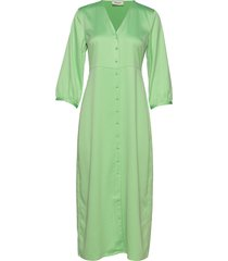 caysa dress knälång klänning grön modström