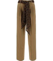 pantaloni donna in pelle