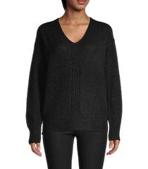 rd style women's v-neck sweater - black - size xs