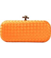 clutch crisfael acessórios sintético laranja - kanui