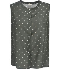 massimo alba polka-dot sleeveless lace shirt
