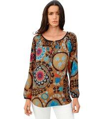 blouse amy vermont mosterdgeel::oranje::blauw