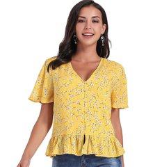 blusa dandelion amarillo nicopoly