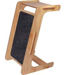 mesa auxiliar com arranhador work cinza charlie pet - cinza - dafiti
