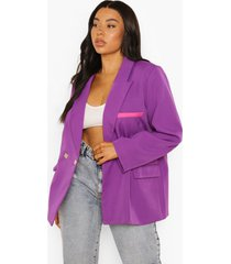 plus super oversized blazer, purple