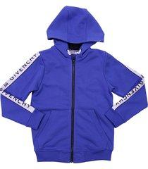 givenchy blue cotton sweatshirt hoodie