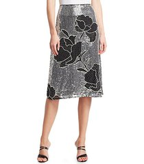 gladys sequined floral skirt
