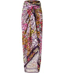 amir slama silk oversized beach skirt - purple