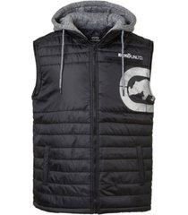 ecko unltd men's diamond quilted hooded vest