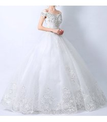new wedding dress bridal gown lace bead floor length size 2 4 6 8 10 12 14 sweet