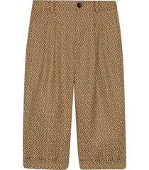 gucci jacquard trousers