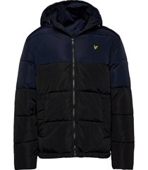 colourblock puffer jacket gevoerd jack blauw lyle & scott
