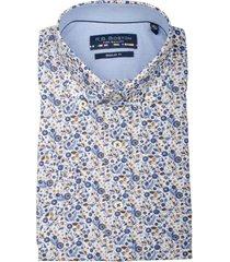 bos bright blue korte mouw blouse 106670/807