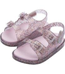 sandalia wide sandal vidrio glitter mini melissa