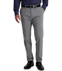 haggar men's iron free premium khaki slim-straight fit pant