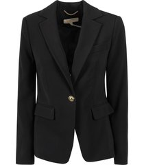 michael michael kors fitted single button blazer