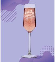 kieliszek do szampana z własnym grawerem