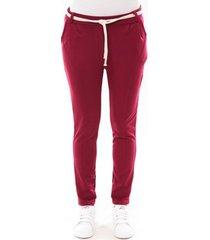 broek de fil en aiguille pantalon sandra bordeaux