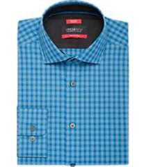 awearness kenneth cole blue check slim fit dress shirt