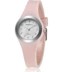 orologio da polso in silicone alla moda con cinturino in silicone per principessa rosa orologio al quarzo impermeabile