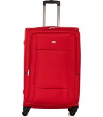 maleta de viaje grande en lona con cuatro ruedas giratorias 93175