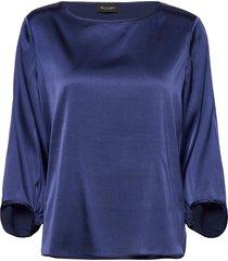 3176 - nova blouse lange mouwen blauw sand