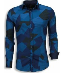 overhemd lange mouw tony backer italiaanse overhemden - slim fit - modern army pattern -