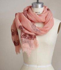 sundance catalog women's astral dawn scarf in pinkmaroon