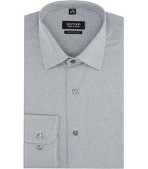 koszula versone 2821 długi rękaw custom fit brąz