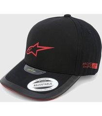 gorra negro-rojo alpinestars
