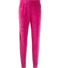 philipp plein crystal lined track pants - pink