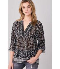 blouse met etnische print
