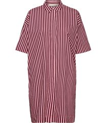 berthakb shirt dress jurk knielengte rood karen by simonsen