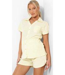 zwangerschap badstoffen blouse, lemon