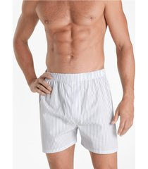 boxer slim fit ground stripe blanco brooks brothers