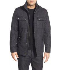 men's cole haan melton coat, size x-large - grey