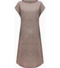 linnen jurk, gestippeld 38
