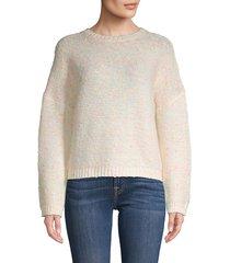 cocobleu women's neon slub-yarn sweater - neon sub - size m