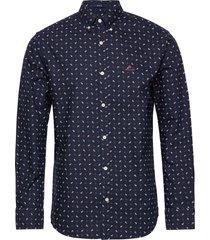 d1. oxford paisley print reg bd overhemd casual blauw gant