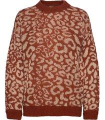 umma knit o-neck gebreide trui rood second female