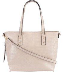 shopping bag stz textura croco off white -