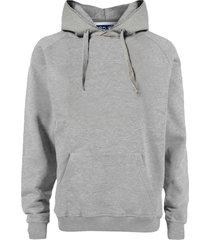 grey melange cotton hoodie
