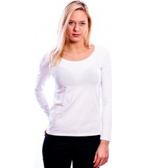 rj bodywear ladies t-shirt long sleeves white