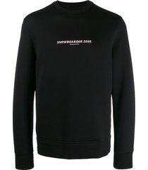 neil barrett snowboarder zeus sweatshirt - black